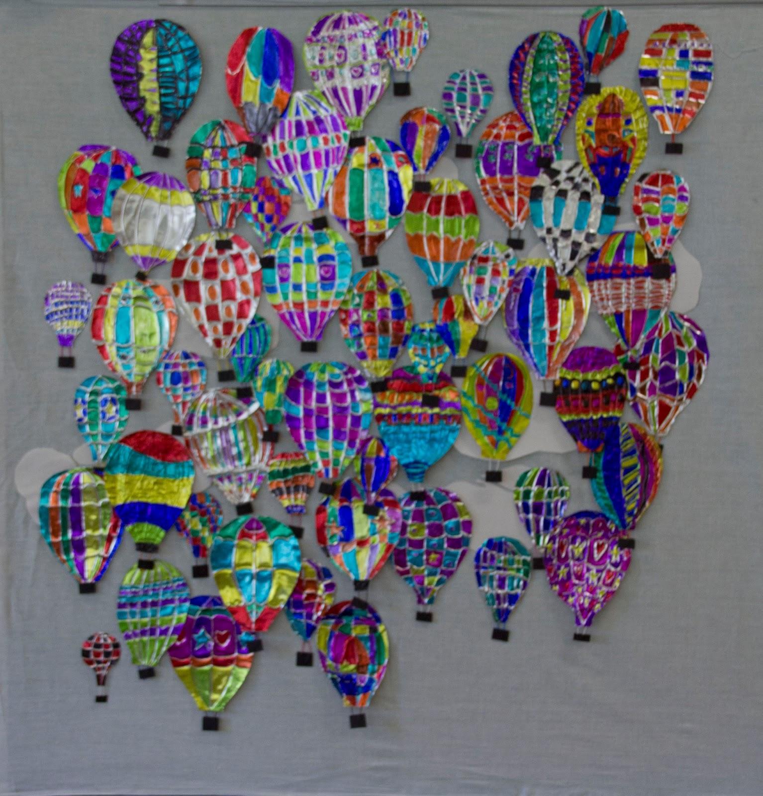 Craft Ideas Balloons: ART ON MY HANDS: Saige's Hot Air Balloon Project