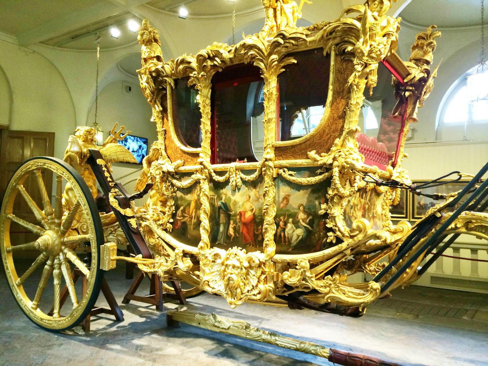 The Golden Carriage in Buckingham Palace