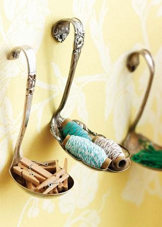 Econotas.com: ideas para reciclar cucharones, decoración