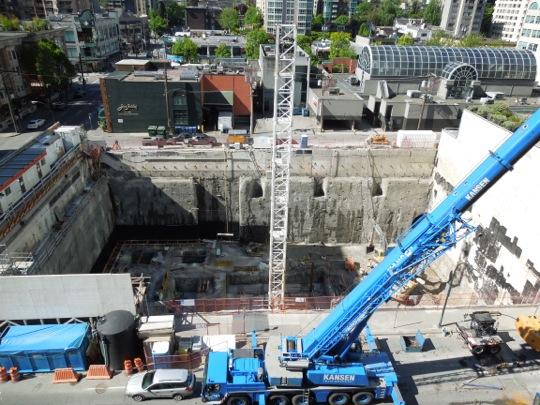 Alberni Street construction Vancouver