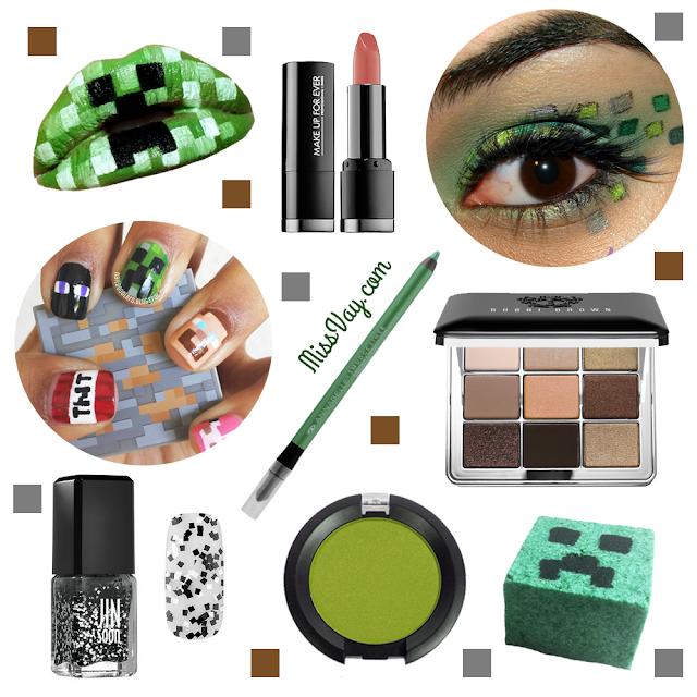 Inspiration Minecraft maquillage beauté cosmétiques geek