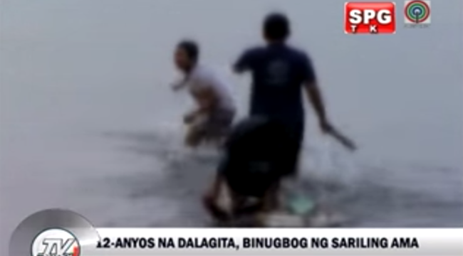 Watch Video of 12 year old Girl Hit by Her Own Father at Roxas Boulevard, Manila Bay