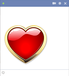 Gold-Rimmed Heart