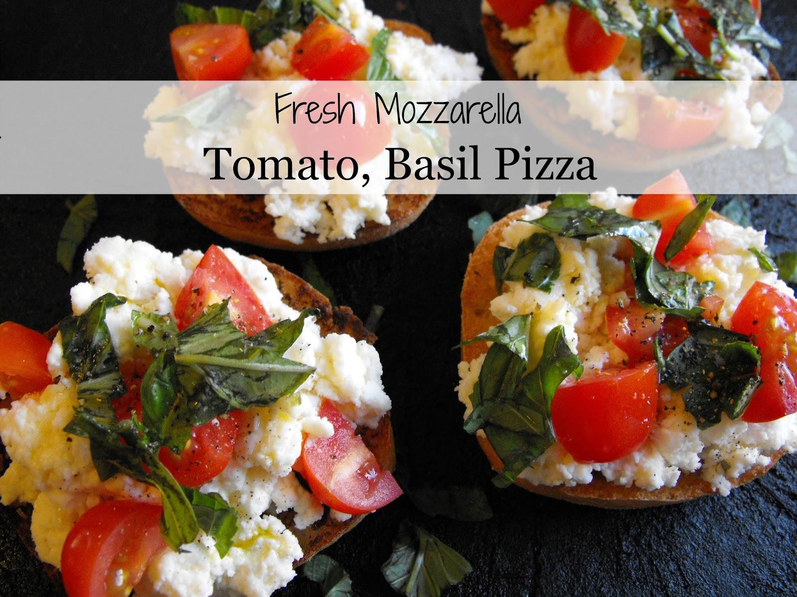 Fresh Mozzarella, Tomato, Basil Pizza at Smile for no Reason. Kathy ...