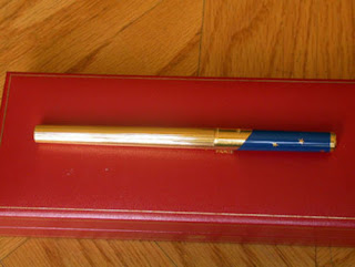 PENNA ST DUPONT ROLLER ROLLERBALL PEN 42785 NEW EUROPA LIMITED EDITION BLU ORO