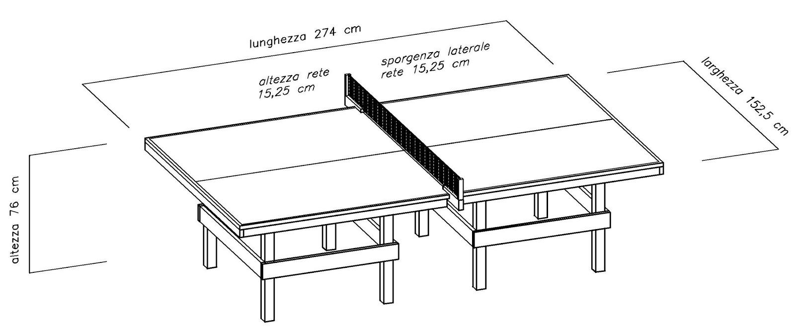 Costruire facile come costruire un tavolo da ping pong - Misure tavolo da ping pong professionale ...