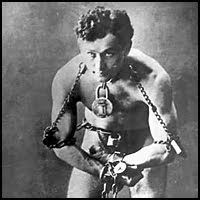 HARRY HOUDINI (1874-1926)  MAGICIAN, STUNT PERFORMER