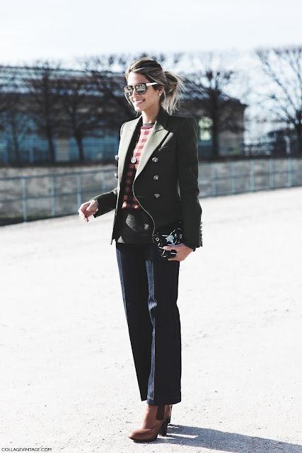Inspiración pantalones de campana fashion week street style paris marzo 15