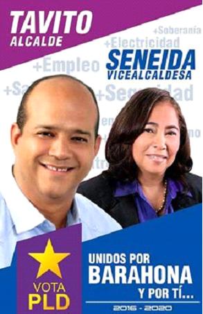 TAVITO-SENEIDA, MUTUAL INVENCIBLE ALCALDIA Y VICE ALCALDIA PRD-PLD SANTA CRUZ DE BARAHONA 2016-2020