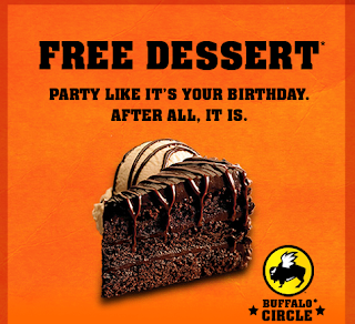 buffalo wild wings birthday freebie coupon dessert