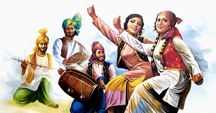 Asian music that combines punjabi folk with western pop