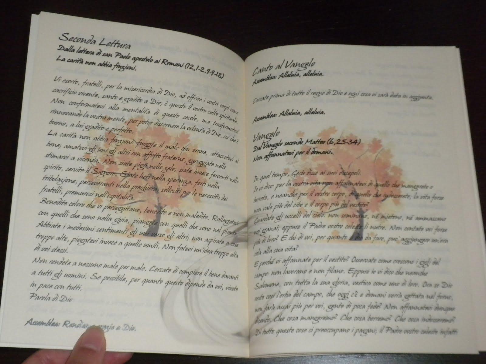 libretto della messa a tema autunnale