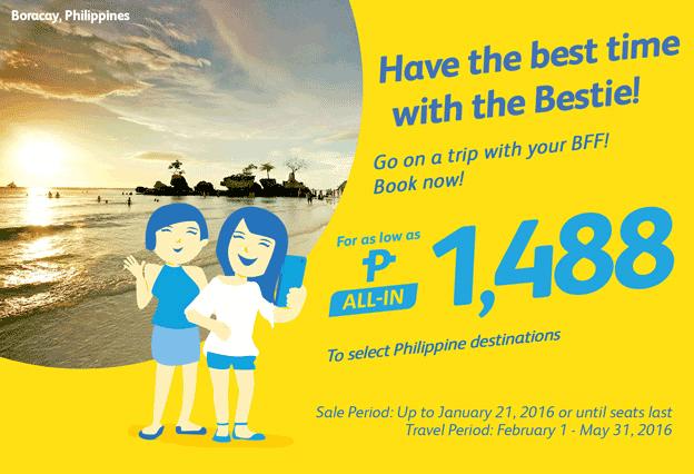 Cebu Pacific 1488 Pesos Domestic Promo Fare 2016