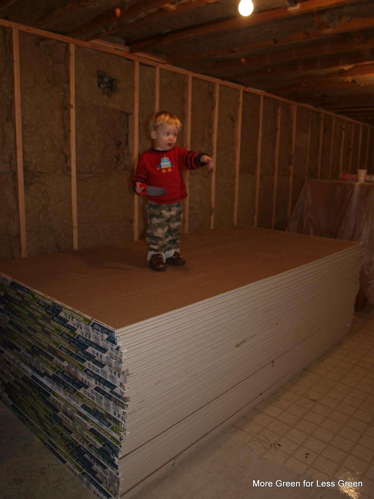 more green for less green basement insulation options