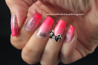 Barry M Dragon Fruit, Sinful Colors Cotton Candy and Models Own Pink Punch, Sinful Colors Pinky Glitter