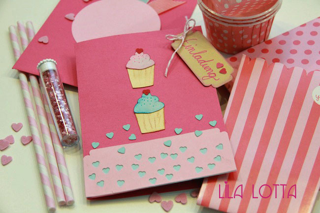 Perfekt Cupcake Einladungskarten DIY .