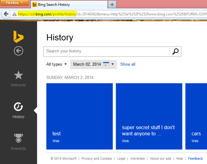 History search
