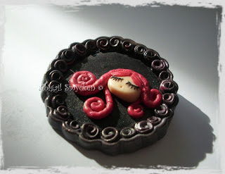 abigail smycken, simple brooch, polymer clay, sculpey, fimo, handmade jewelry