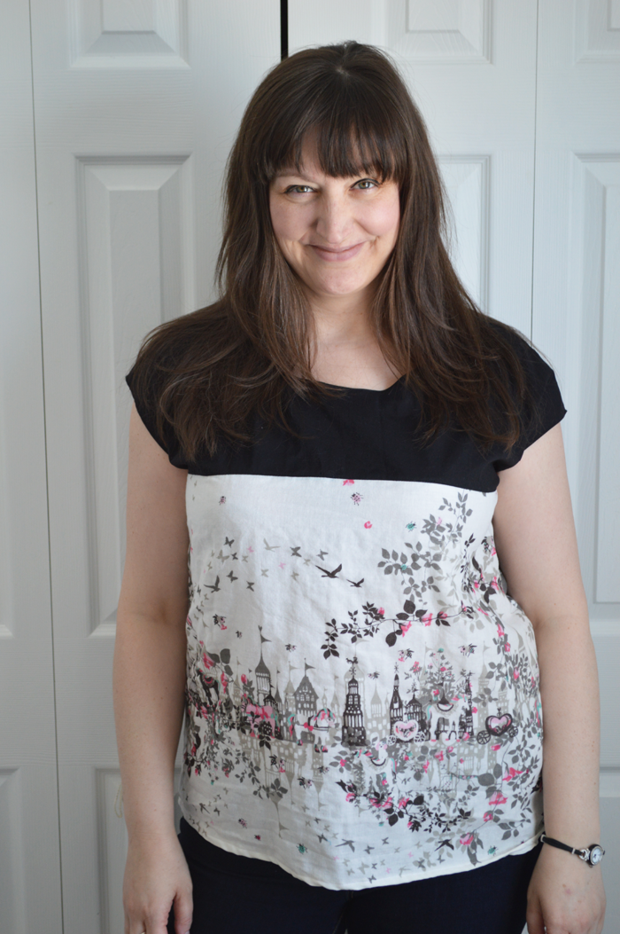 Horaguchi fabric Zippy Top sewn by Cicely Ingleside