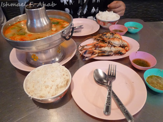 Our dinner in R & L Seafood Restaurant, Bangkok Chinatown