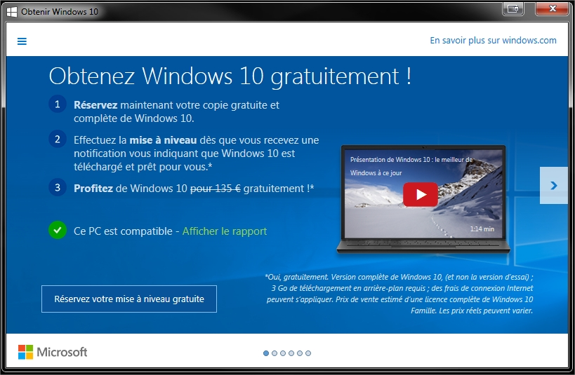 la licence windows 10