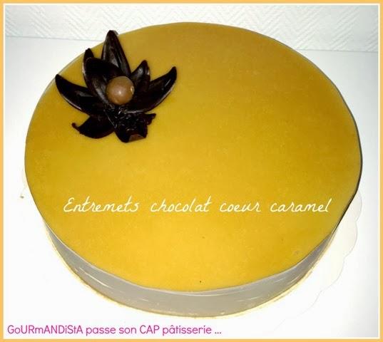 image GoURmANDiStA passe son CAP pâtisserie : Entremets chocolat cœur caramel