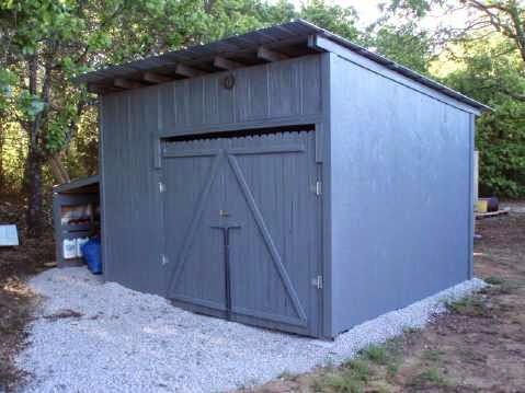 Como hacer una caba a o almac n con - Como construir una casa paso a paso ...