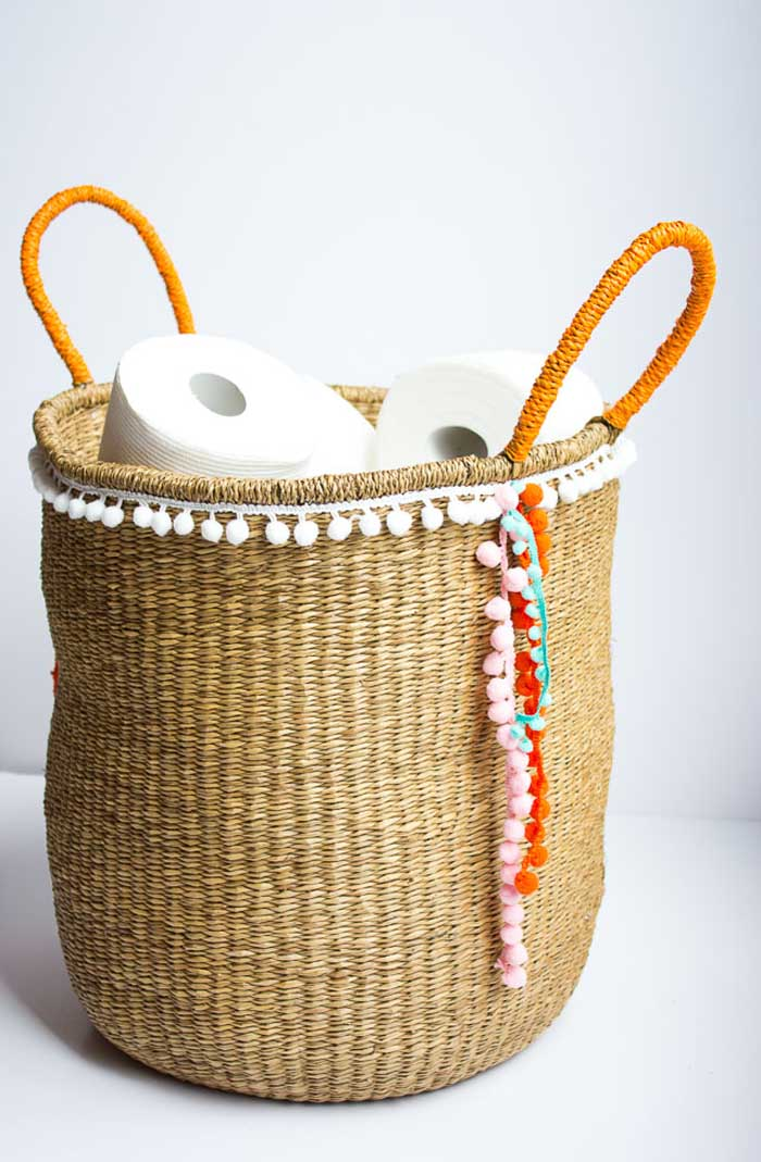Wicker Basket With Pom Poms : Amazeballs pom projects poppytalk