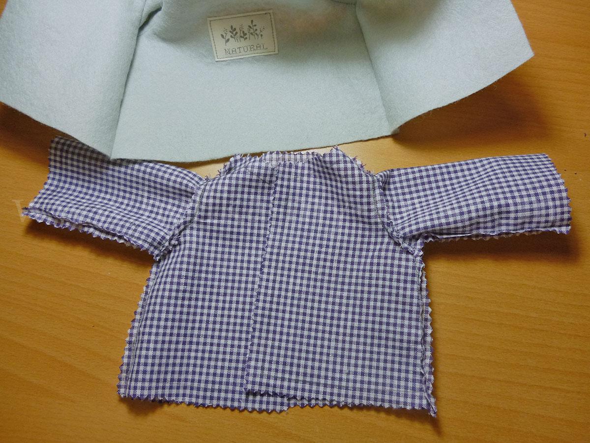 Как сшить пальто для куклы. Выкройка пальто для куклы / Мастер-класс 97