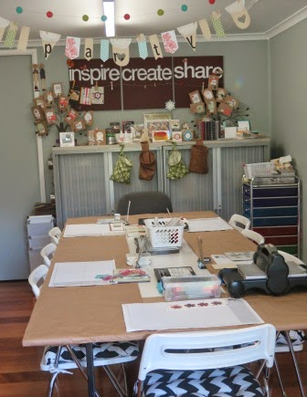 Station set up for Occasionals Catalogue Launch Zena Kennedy independent Stampin up demonstrator