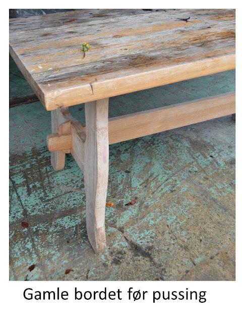 Villaveien nr 1: Gammelt bord blir nytt... Og smurt inn med MITO