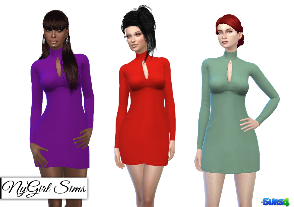 cb277b5395f NyGirl Sims 4  Long Sleeve Turtleneck Bodycon Phenomenal Feeling Black Long  Sleeve Bodycon Dress. Free US Shipping! Free Ground Shipping on all US  orders of ...
