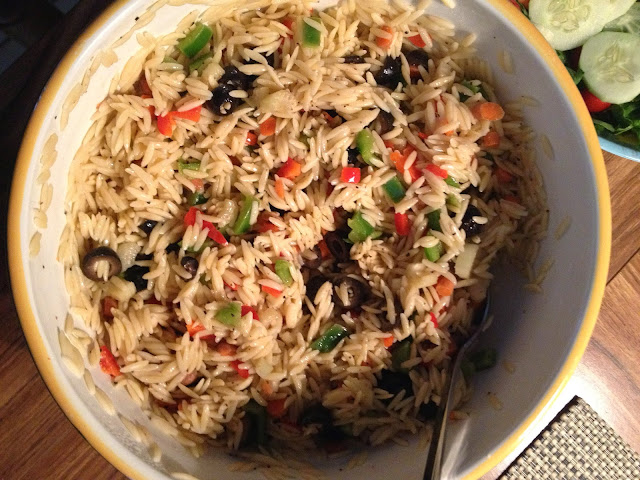 Orzo salad with pecorino