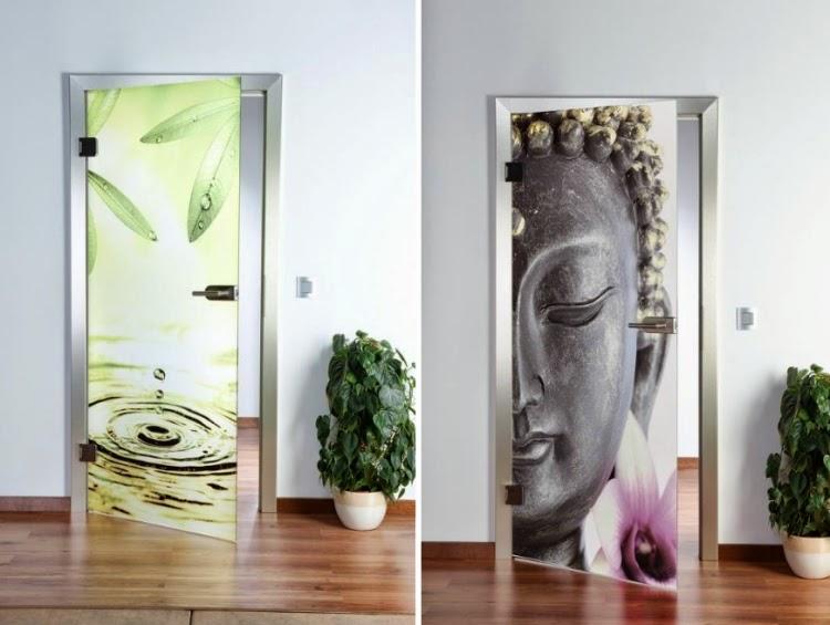modern interior doors, Glass doors with aluminum frame
