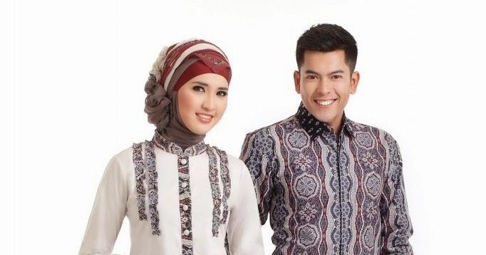 Foto koleksi model baju batik pria dan wanita couple unik ...