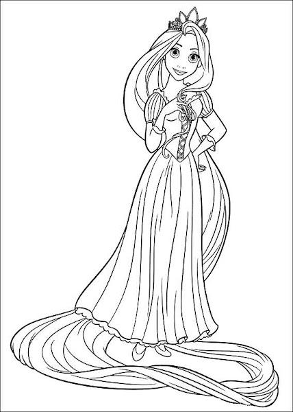 Disney Tangled Coloring Pages To Print