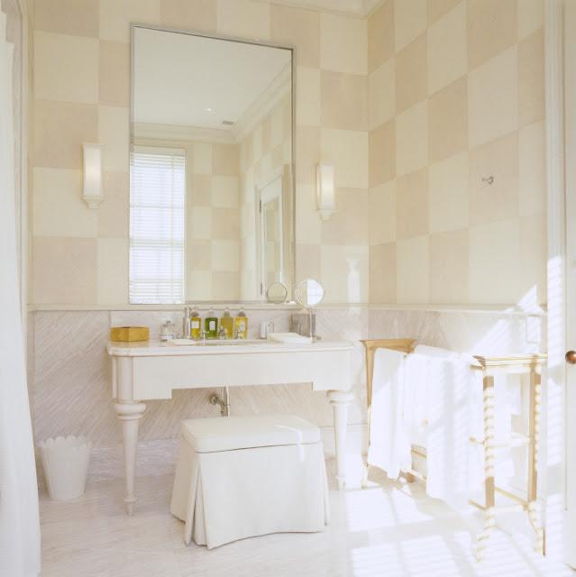 To Da Loos Checkered Bathroom Walls