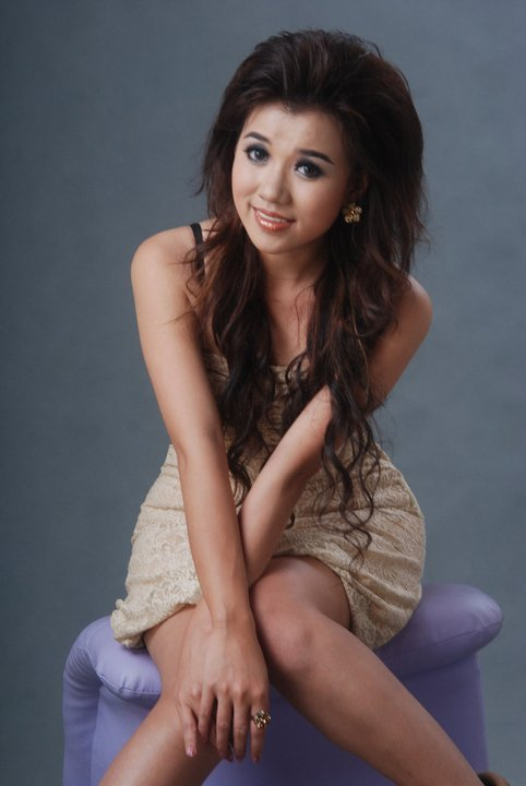 Myanmar Model Ei Phyo Cherry in Polka Mini Dress