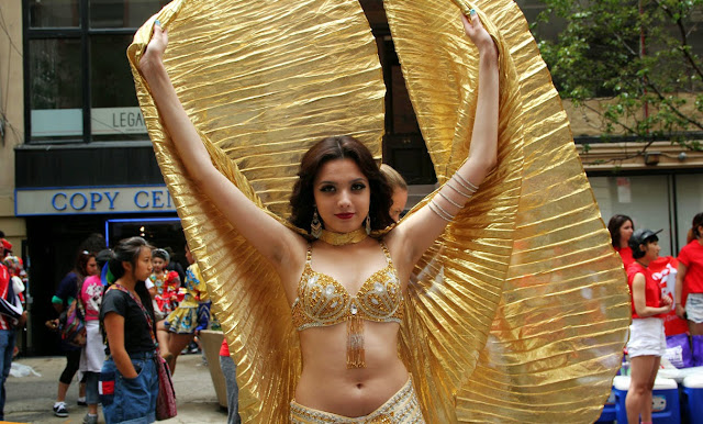 Dance Parade Manhattan New York USA - belly dance
