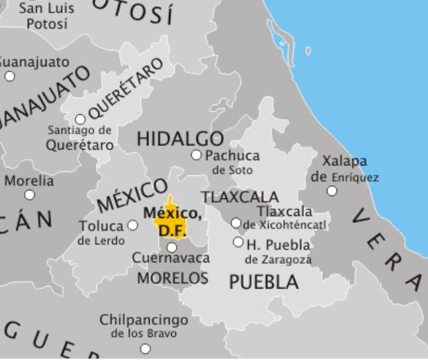Entidades Federativas De Mexico Con Capitales
