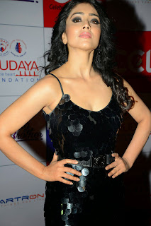 Actress Shriya Saran Latest Picture in Black Long Dress at CCL Charity Dinner 36