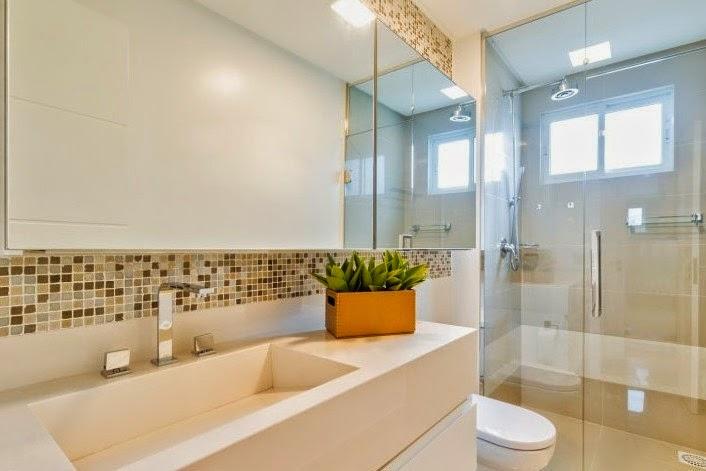 Housing Interiores Decorações  REVESTIMENTOS PARA BANHEIROS -> Pia De Banheiro Com Pastilha De Vidro