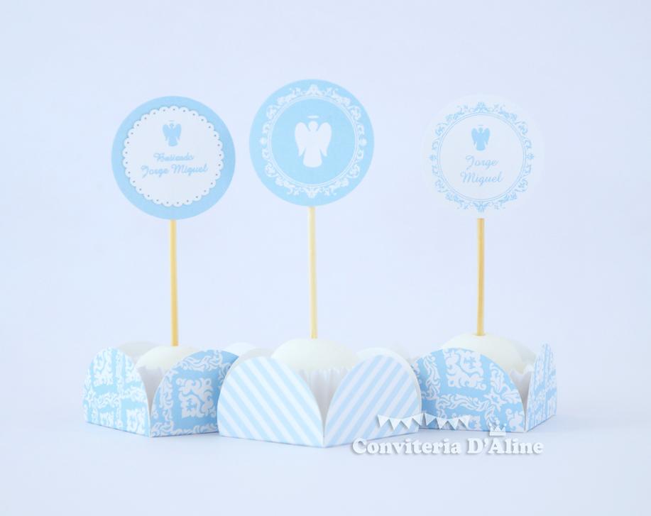 decoração batizado azul menino