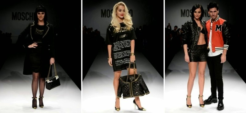 Katy Perry, Rita Ora, The Misshapes, Moschino Fashion Show, Moschino Fall Winter, fashion show