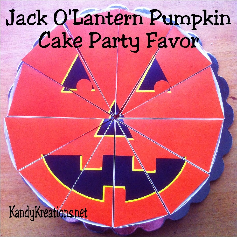 Make a fun party favor in the shape of a Jack O'lantern with this free printable for newsletter subscribers during the month of October!