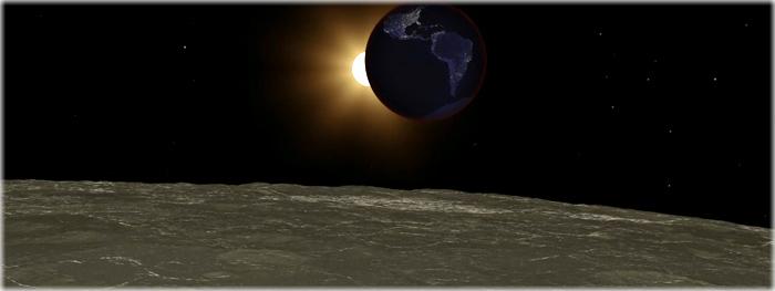 eclipse visto da Lua