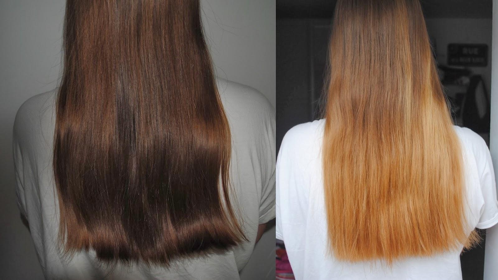 rsultat final - Gele Claircissante Garnier Sur Cheveux Colors
