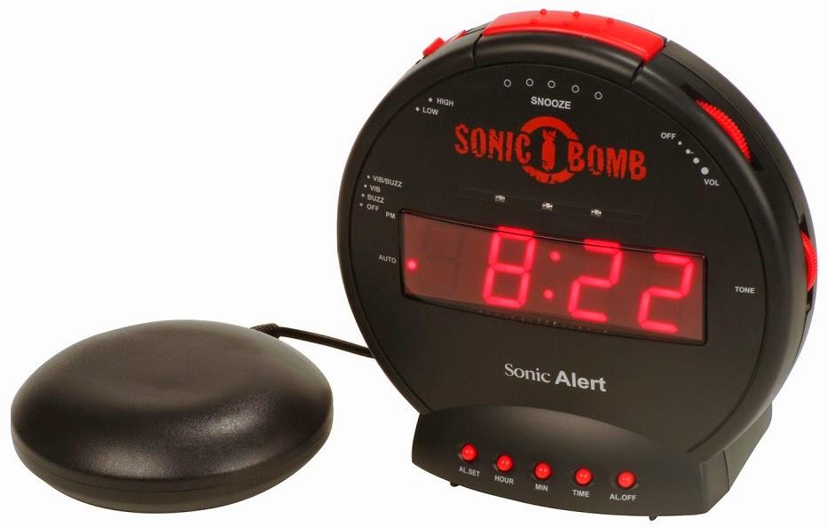 the loud alarm clock