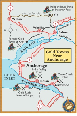 Maps of Alaska Roads By Bearfoot Guides: Bearfoot Map Of Anchorage