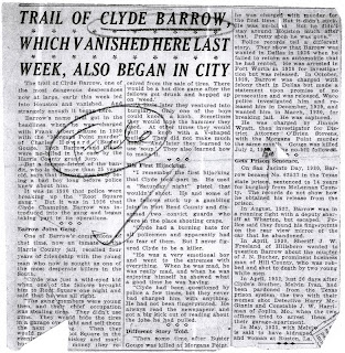 bonnie and clyde paper Bonnie and clyde news find breaking news, commentary, and archival information about bonnie and clyde from the tribunedigital-chicagotribune.